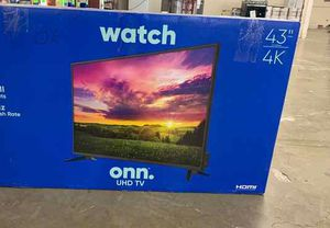 "Brand New 43"" 4K ONN TV! Open box w/ warranty KB7P for Sale in Fort Worth, TX"