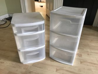 Plastic Storage Drawers (2 for $8) for Sale in Boston,  MA