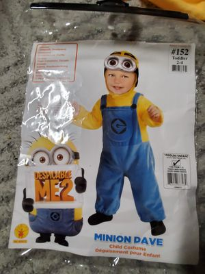 Minions costume 2-4 years for Sale in Wichita, KS