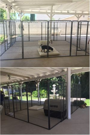"New 48"" Tall x 32"" Wide Panel Heavy Duty 16 Panels Dog Playpen Pet Safety Fence Adjustable Shape and Space for Sale in Whittier, CA"