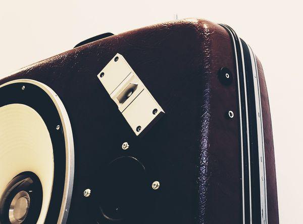Vintage Suitcase Boombox Speaker System by ReSpeak