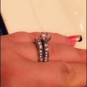 Synthetic Diamond Wedding Set for Sale in Pittsburgh, PA