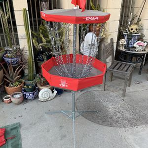 Dga Portable Disc Golf Basket Hard To Find Red Version! (sturdy) for Sale in Culver City, CA