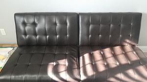 Chocolate brown futon for Sale in Spring Hill, FL