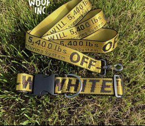 Off white dog collar and leash for Sale in CTY OF CMMRCE, CA