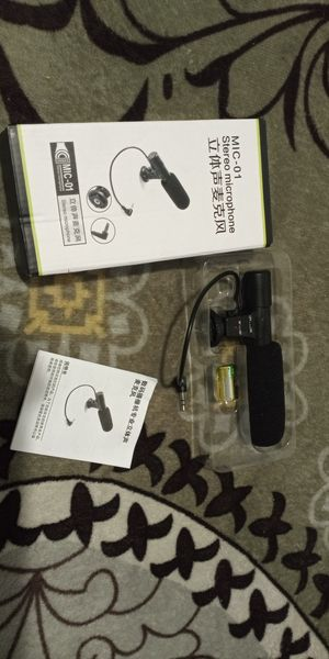 3.5mm External Stereo Microphone For DSLR Camera Canon Nikon DV Camcorder Phone for Sale in Vallejo, CA