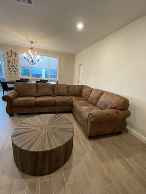 Sectional sofa microsuede for Sale in Vista, CA