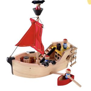 Plan toys sailing wooden boat take all wooden toys for Sale in Darien, CT