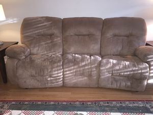 Microfiber reclining couch for Sale in Alexandria, VA