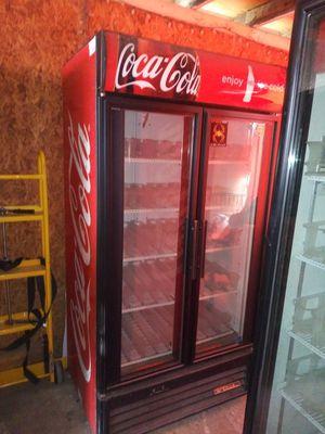 True two-door Coca-Cola cooler for Sale in Dallas, TX