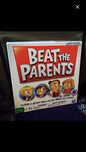 Beat the Parents- Trivia Game. Two sets of questions. One for kids and the other for adults. GOOD FAMILY GAME for Sale in UPR MAKEFIELD, PA