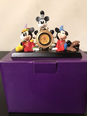 Disney Clock collectible and brand new with the box for Sale in Westlake, MD