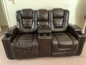 Big Chief Power Reclining Console Loveseat for Sale in Chandler, AZ