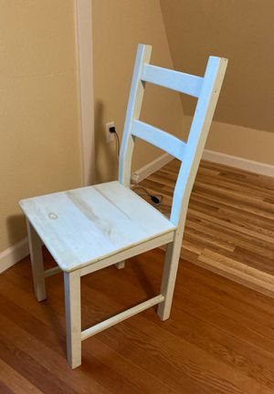 4 light blue wooden chairs for Sale in Portland, OR