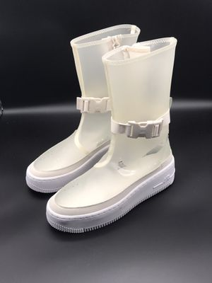 NWOB Nike Women's AF1 Sage HI LX Rain Boots Clear White BQ4805-001 Size 5.5 for Sale in McKinney, TX
