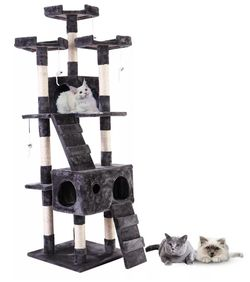 """67"""" Multi-Level Cat Tree Tower, Kitten Condo House with Scratching Posts for Sale in Whittier,  CA"""