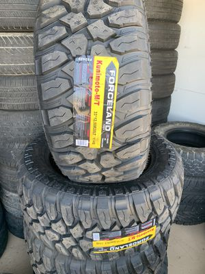 33X12.5R20 FORCELAND KUNIMOTO MT 10 PLY NEW TIRES for Sale in Modesto, CA