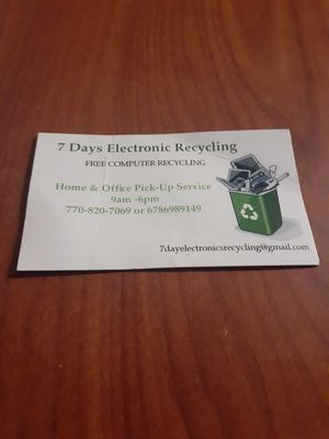 Electronic Recycling Center Drop Off(FREE!!!) for Sale in Kennesaw, GA