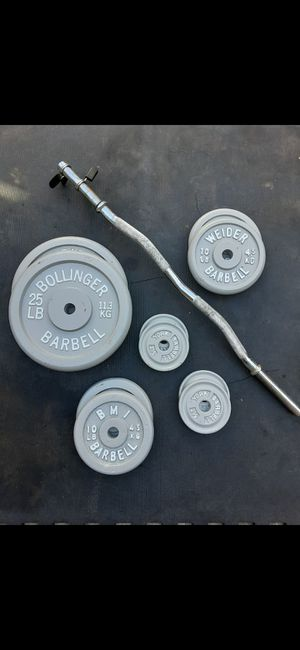 ☆100lb + curl bar for Sale in El Monte, CA