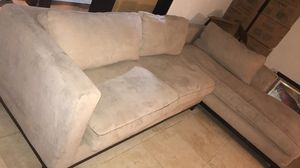 Suede couch L shaped for Sale in Fort Lauderdale, FL
