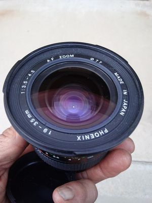 Phoenix 19-35mm f3.5- 4.5 Af Zoom MA-mount for Sale in Chino Hills, CA
