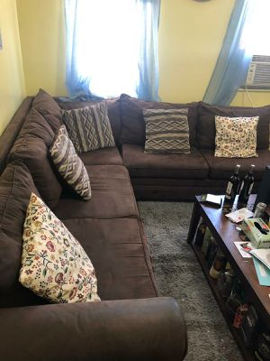 Sectional couch and chaise for Sale in The Bronx, NY