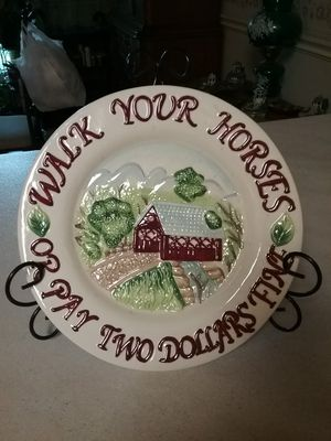 Walk your horse plate for Sale in Milton, FL