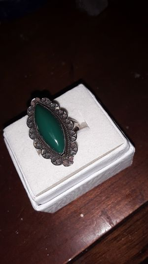 sterling ring w/ large stone for Sale in Madison, VA