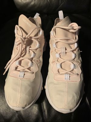 Nike React Element 55 Pale Pink White Running Shoes BQ2728-600 Women Size 8 for Sale in Los Angeles, CA