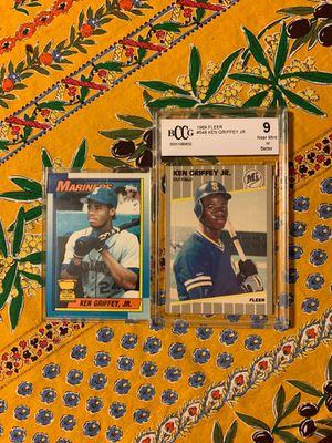 Two Ken Griffey Jr. rookie cards for Sale in Fremont, CA