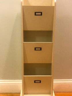 White Wood File Holder Office Organizer for Sale in Boston,  MA