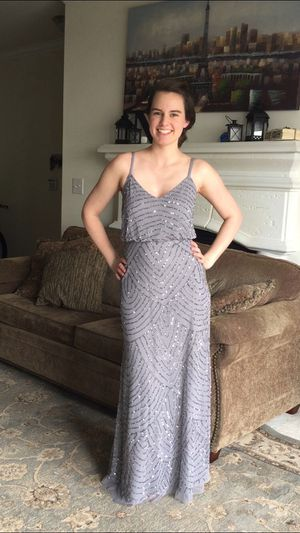 Sparkly gray bridesmaids dress, prom dress for Sale in Herndon, VA