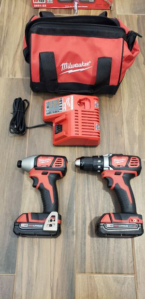 Milwaukee 18v drill and impact driver set for Sale in San Diego, CA
