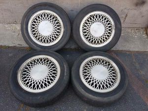 14 inch four lug mesh rims 4 on 100 or 4 on 108 lugs for Sale in Montebello, CA