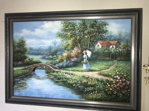 Framed Oil on canvas for Sale in Arlington, WA