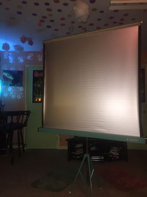 50X50 Portable with Legs Projection screen made by Penncrest for Sale in Stone Mountain, GA