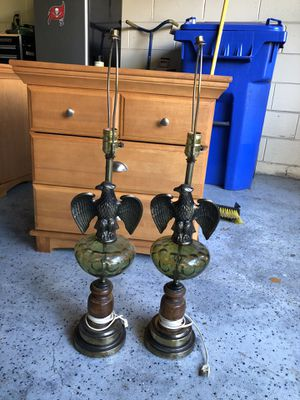Vintage federal eagle lamps for Sale in Tampa, FL