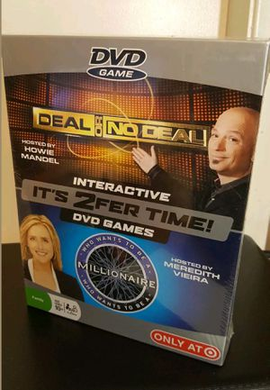 $20 DEAL OR NO DEAL/WHO WANTS TO BE A MILLIONARIE 2x1 DVD GAMES NEW SEALED for Sale in Grand Prairie, TX