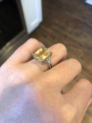 Honey Topaz Ring with Diamond Detail & Earrings for Sale in Nashville, TN