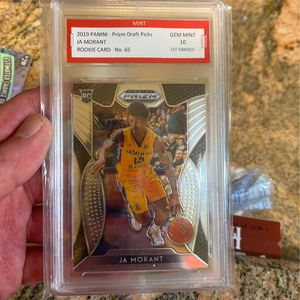 Ja Morant Rookie Card Panini Prizm No 65 Gen Mint 10 for Sale in Fairfax, VA