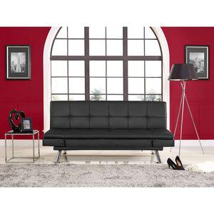 Futon faux leather black for Sale in Dallas, TX