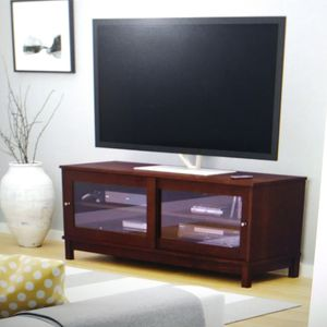 Resort Cherry Tv Stand w/Sliding Glass Doors for Sale in Dallas, TX