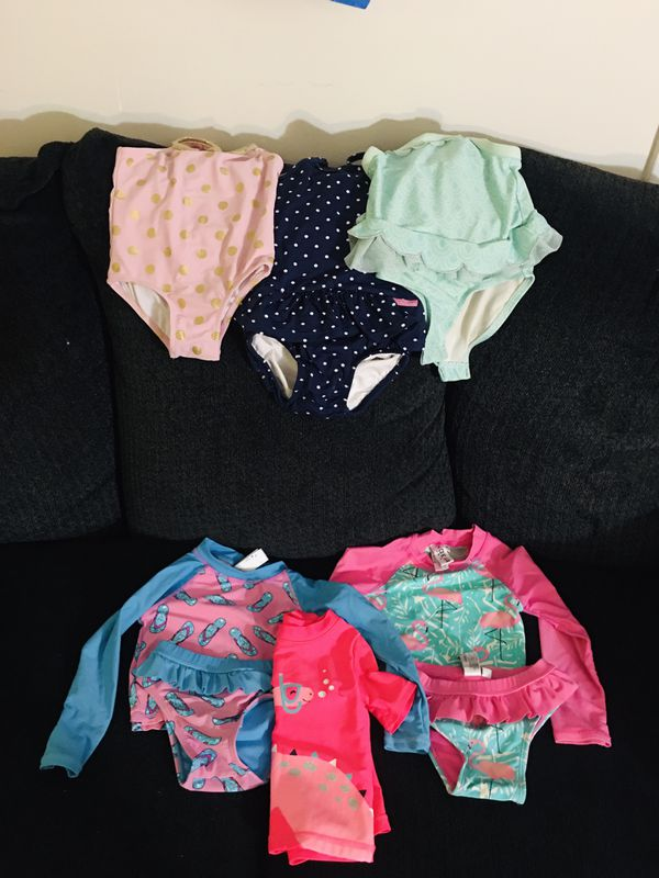 Baby girl swimming outfit with 9 swimming pampers included