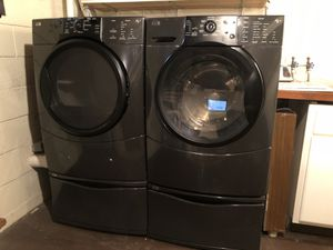 Kenmore Elite Washer & Dryer with pedestals for Sale in York, PA