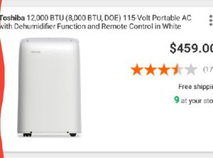 Toshiba portable AC unit for Sale in Live Oak, TX