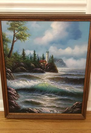 """CANVAS PAINTING 22 1/2"""" TALL X 27 1/2"""" WIDE for Sale in Aurora, IL"""