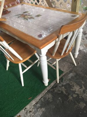 Kitchen table 6 chairs for Sale in TEMPLE TERR, FL