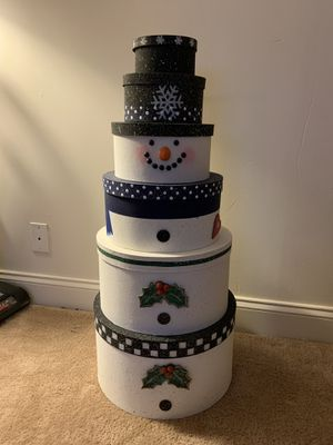 Stackable snowman for Sale in Carnegie, PA