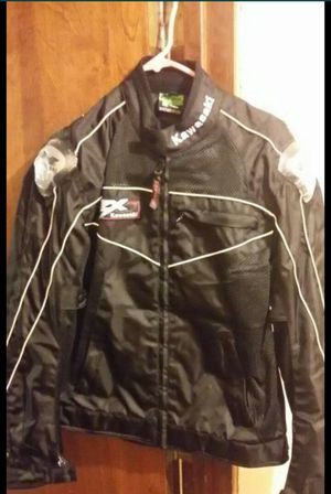 Size Medium Brand new kawasaki motorcycle jacket with ventilation sleeves for Sale in Fresno, CA