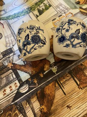 Delft Ceramic Blue and White Salt and Pepper Shakers for Sale in Suffolk, VA